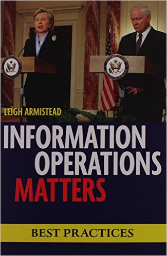 "Book cover for ""Information Operations Matters""  by Leigh Armestead"